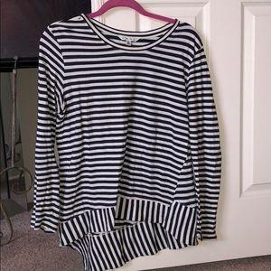 Women's Cabi long sleeve stripped shirt.